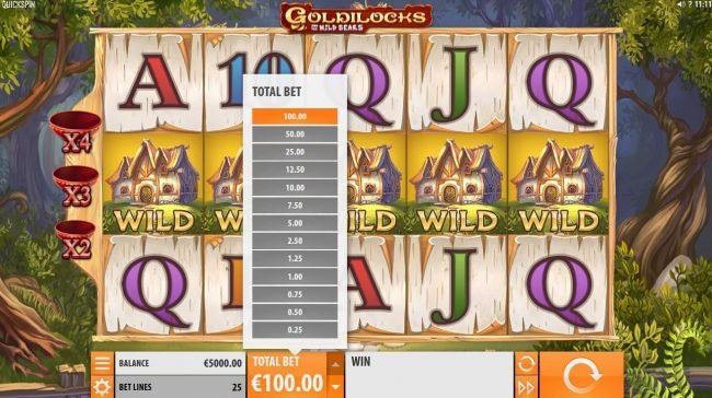 Bet At Casino featuring the Video Slots Goldilocks and the Wild Bears with a maximum payout of $100,000