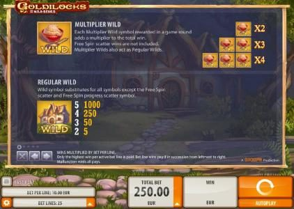 Casumo featuring the Video Slots Goldilocks with a maximum payout of $40,000