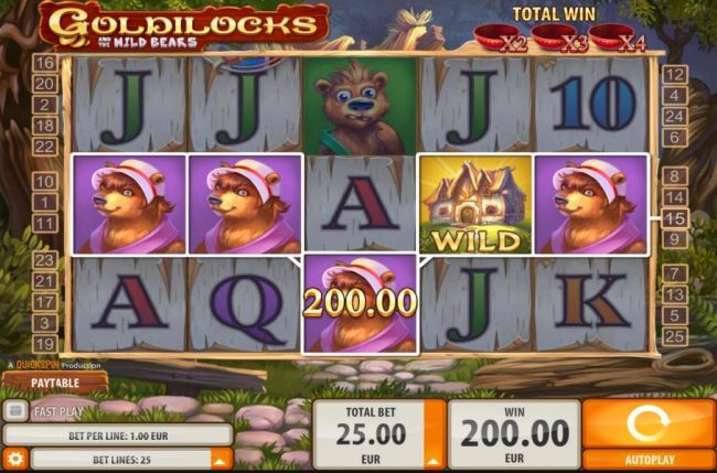 Dreamy 7 featuring the Video Slots Goldilocks with a maximum payout of $40,000