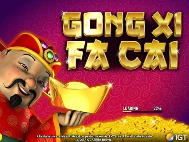 Party Casino featuring the Video Slots Gong Xi Fa Cai with a maximum payout of $250,000