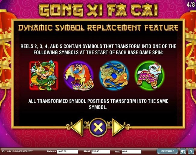 Secret Slots featuring the Video Slots Gong Xi Fa Cai with a maximum payout of $250,000