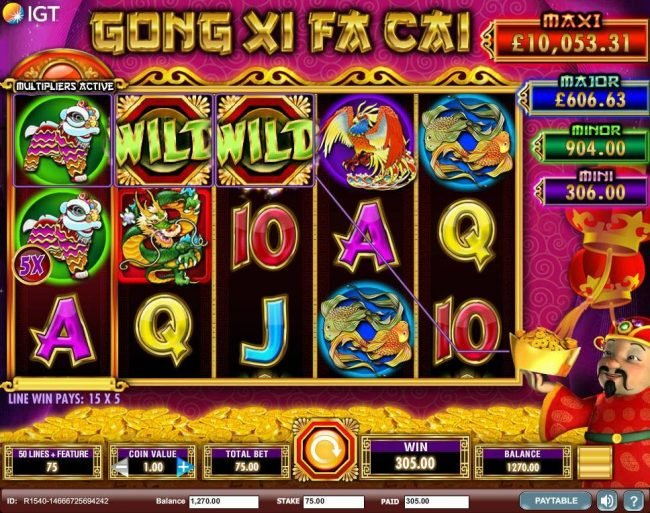 Play slots at Queen Vegas: Queen Vegas featuring the Video Slots Gong Xi Fa Cai with a maximum payout of $250,000