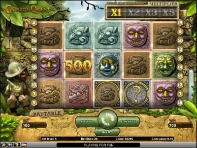 Gonzo's Quest slot game 700 coin jackpot