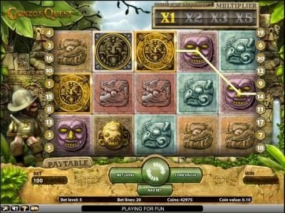 Gonzo's Quest slot game bonus round triggered