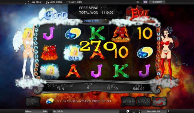 A 270 coin jackpot triggered