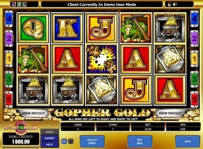 Casino Red Kings featuring the Video Slots Gopher Gold with a maximum payout of $60,000