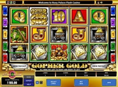 Triple Aces featuring the Video Slots Gopher Gold with a maximum payout of $60,000