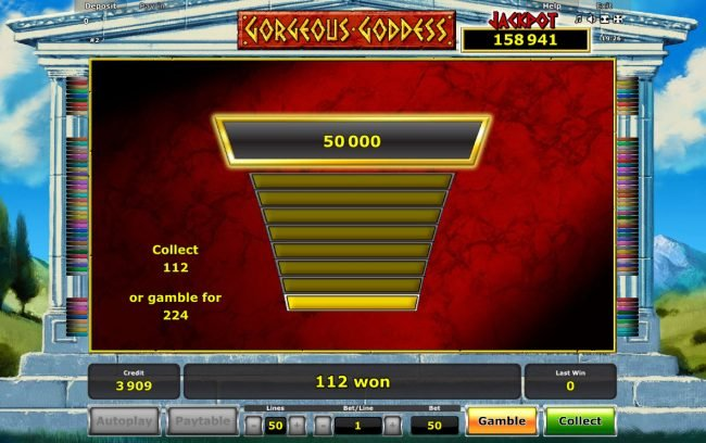 Gorgeous Goddess :: Ladder Gamble Feature Game Board