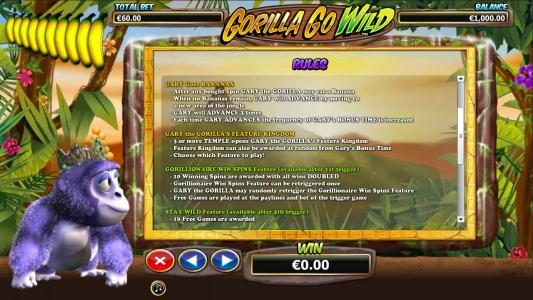 Playgrand featuring the Video Slots Gorilla Go Wild with a maximum payout of $5,000