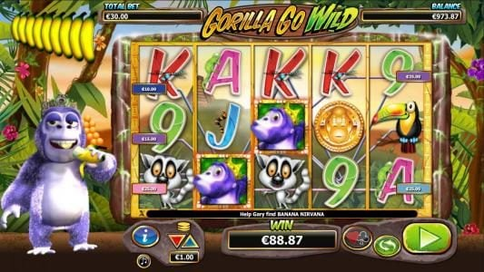 Euro King featuring the Video Slots Gorilla Go Wild with a maximum payout of $5,000