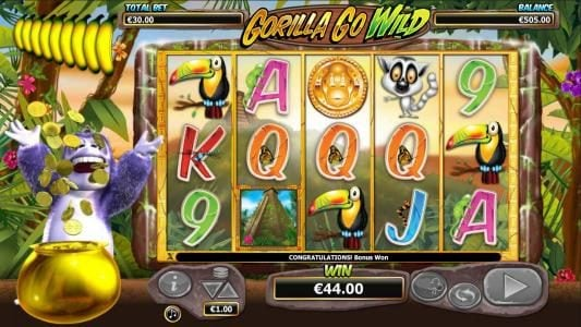DruckGluck featuring the Video Slots Gorilla Go Wild with a maximum payout of $5,000