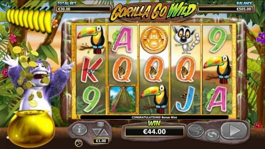 Wintingo featuring the Video Slots Gorilla Go Wild with a maximum payout of $5,000