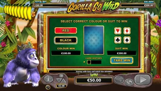 Diamond Club VIP featuring the Video Slots Gorilla Go Wild with a maximum payout of $5,000