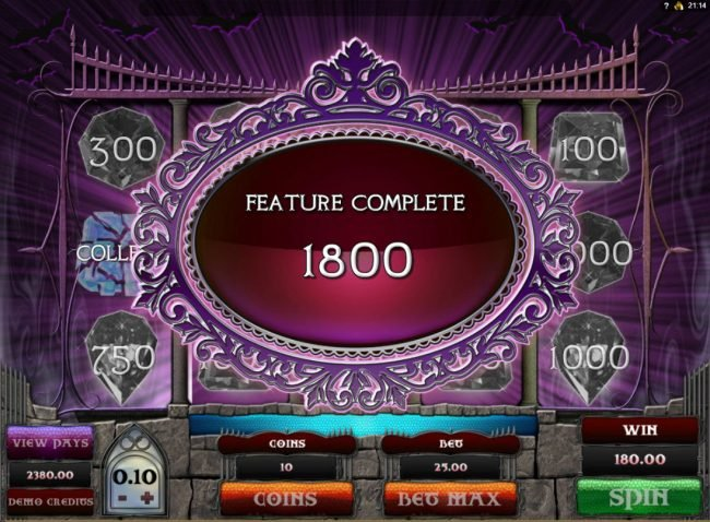 Luxury featuring the Video Slots Gothic with a maximum payout of $15,000