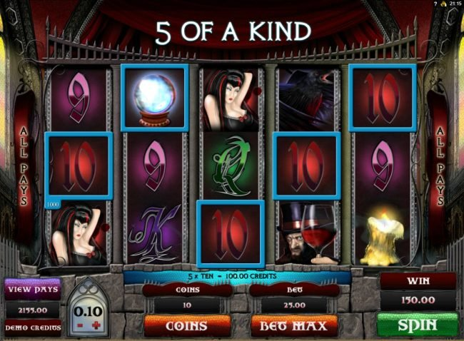 Casimba featuring the Video Slots Gothic with a maximum payout of $15,000