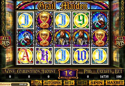 Play slots at Lincoln: Lincoln featuring the Video Slots Grail Maiden with a maximum payout of $1,000