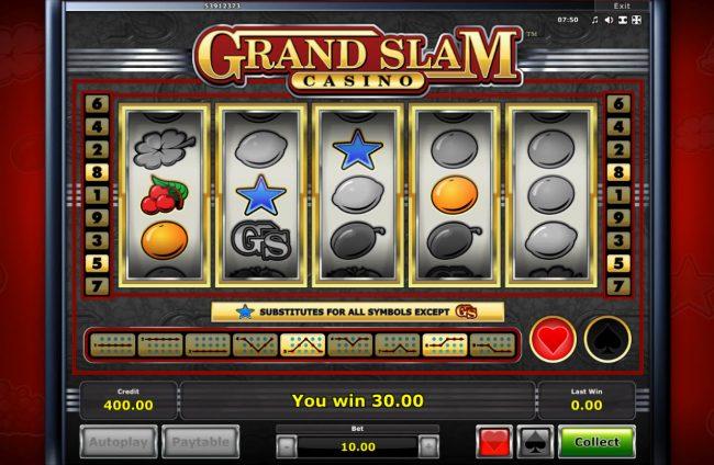 Grand Slam Casino :: Multiple winning paylines