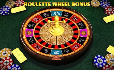 roulette wheel bonus feature game board
