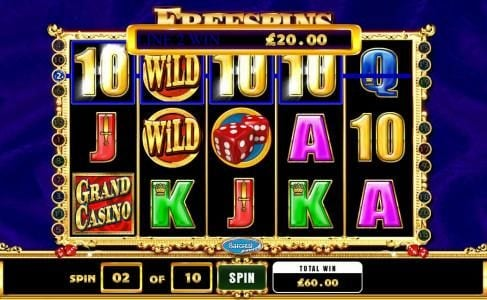 a $60 jackpot triggered by multiple winning paylines during the free spins bonus feature