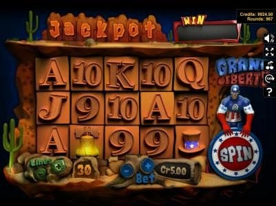 Crypto Slots featuring the Video Slots Grand Liberty with a maximum payout of $3,750