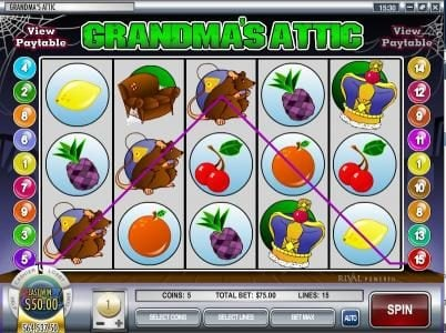 Play slots at Vegas Fortune: Vegas Fortune featuring the video-Slots Grandma's Attic with a maximum payout of $37,500