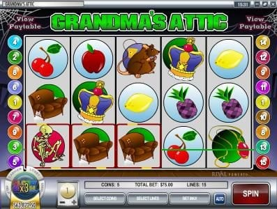 Break Away featuring the video-Slots Grandma's Attic with a maximum payout of $37,500
