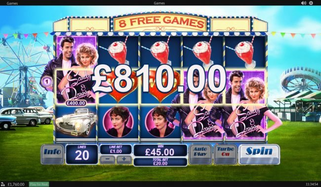 Coral featuring the Video Slots Grease with a maximum payout of $20,000