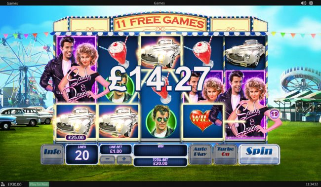 Grease :: Free Spins Game Board