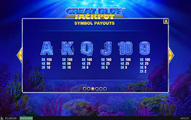 Play slots at BGO Vegas: BGO Vegas featuring the Video Slots Great Blue Jackpot with a maximum payout of Jackpot