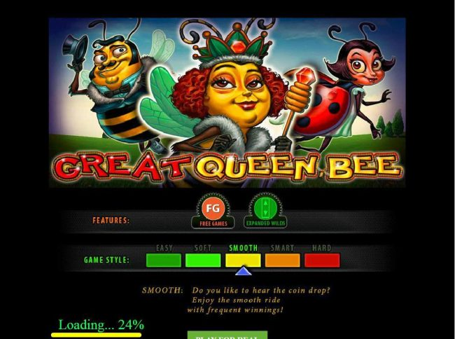 ZigZag777 featuring the Video Slots Great Queen Bee with a maximum payout of $125,000