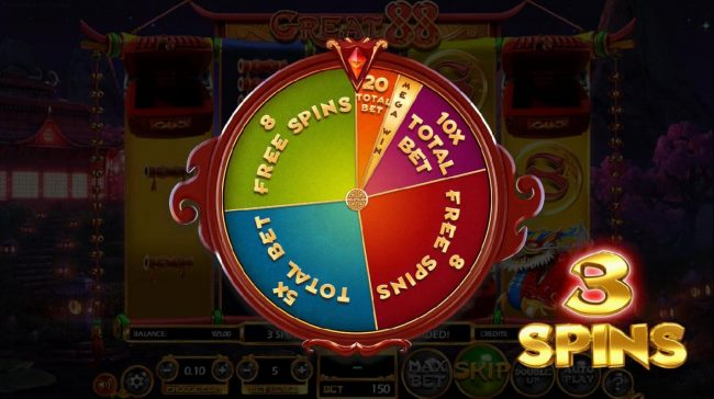 Fruity Casa featuring the Video Slots Great 88 with a maximum payout of $2,250,000