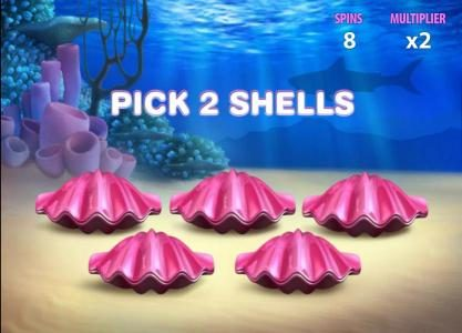 pick two shells to determine your prize