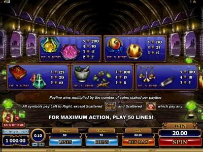 Simba Games featuring the Video Slots Great Griffin with a maximum payout of $5,000