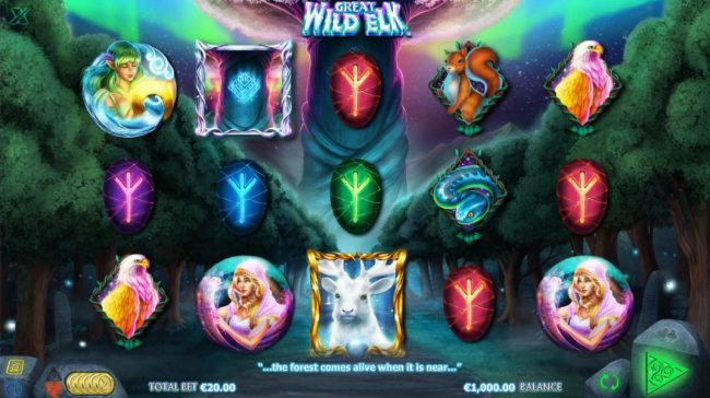 Thrills featuring the Video Slots Great Wild Elk with a maximum payout of $10,000