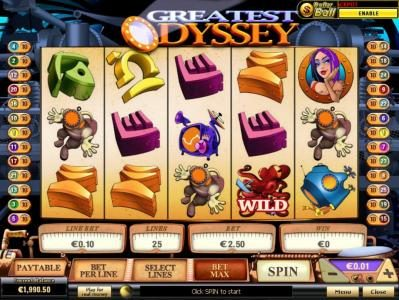 Euro Grand featuring the Video Slots Greatest Odyssey with a maximum payout of $50,000