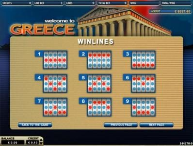 Greece :: Payline Diagrams