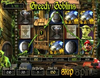 Play slots at Big Dollar: Big Dollar featuring the Video Slots Greedy Goblins with a maximum payout of Jackpot