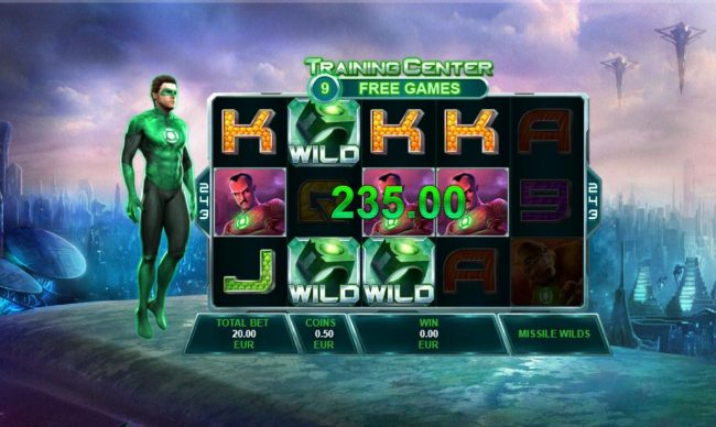 Slots Heaven featuring the Video Slots Green Lantern with a maximum payout of Jackpot
