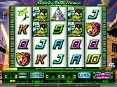 Fruity Vegas featuring the Video Slots Green Lantern with a maximum payout of $400,000