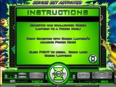 bonus feature instructions