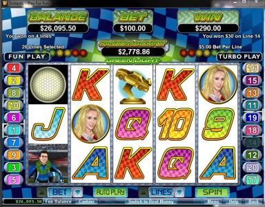 Casino Brango featuring the Video Slots Green Light with a maximum payout of $250,000