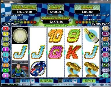 Intertops featuring the Video Slots Green Light with a maximum payout of $250,000