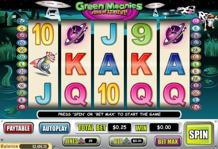 Play slots at Lincoln: Lincoln featuring the Video Slots Green Meanies with a maximum payout of $50,000