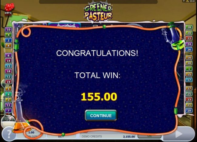 emu Casino featuring the Video Slots Greener Pasteur with a maximum payout of $72,000