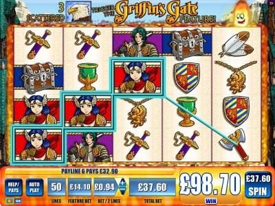 Powerspins featuring the Video Slots Griffin's Gate with a maximum payout of $1,000