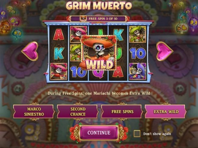Africa Casino featuring the Video Slots Grim Muerto with a maximum payout of $5,000