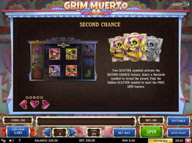 Casumo featuring the Video Slots Grim Muerto with a maximum payout of $5,000
