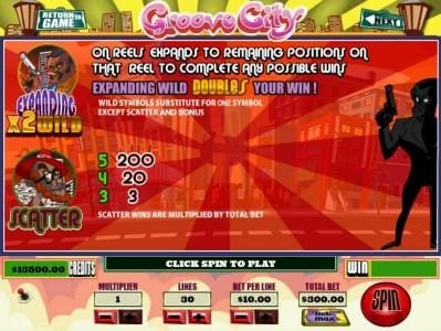 Mission 2 Game featuring the Video Slots Groove City with a maximum payout of Jackpot