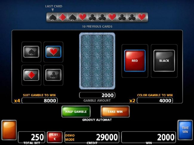 21 Nova featuring the Video Slots Groovy Automat with a maximum payout of $500,000