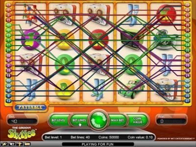 Slots Village featuring the Video Slots Groovy Sixties with a maximum payout of $2,500